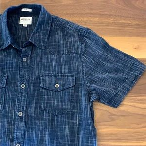 Guess Slim Fit S/S Button Down Shirt - M